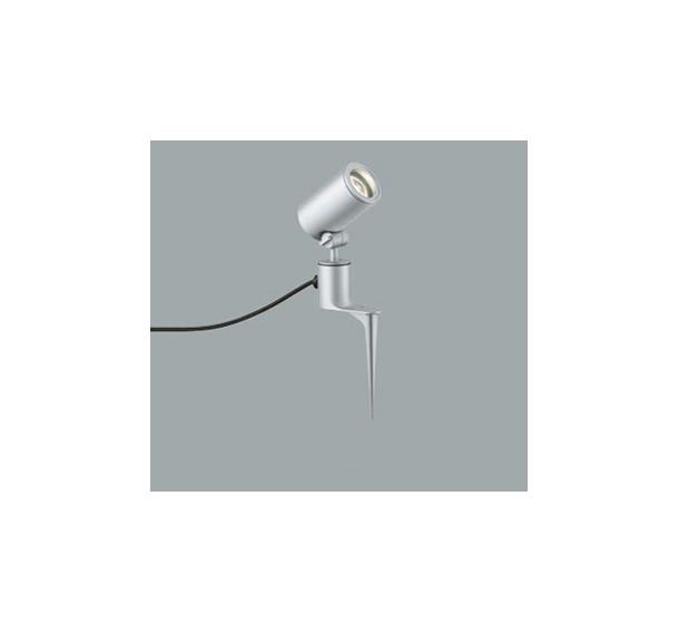 ◎ODELIC LEDエクステリアスポットライト スパイク式 プラグ付キャプタイヤケーブル LED一体型 ビーム球150W相当 電球色 ミディアム配光 本体マットシルバー 防雨型 OG254352