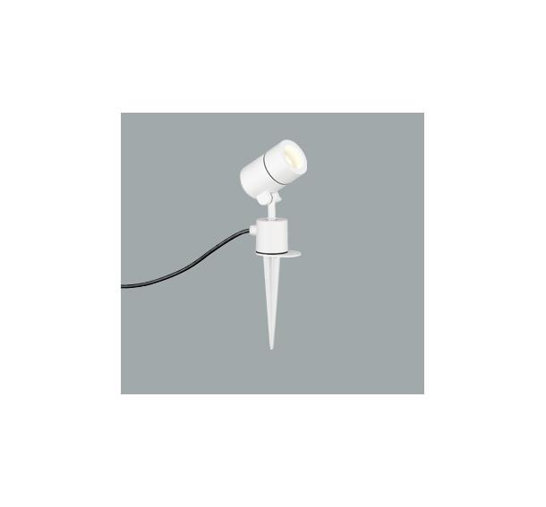 ◎ODELIC LEDエクステリアスポットライト スパイク式 プラグ付キャプタイヤケーブル LED電球ミニクリプトンレフ形 E17口金 電球色 白熱灯50W相当 (ランプ付) 本体黒色オフホワイト 防雨型 OG254572LD