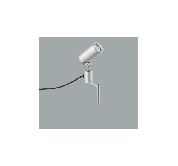 ◎ODELIC LEDエクステリアスポットライト スパイク式 プラグ付キャプタイヤケーブル LED一体型 CDM-T35W相当 昼白色 ミディアム配光 本体マットシルバー 防雨型 OG254857