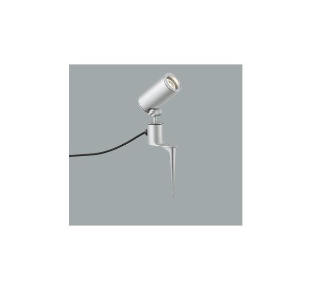 ◎ODELIC LEDエクステリアスポットライト スパイク式 プラグ付キャプタイヤケーブル LED一体型 CDM-T35W相当 電球色 ミディアム配光 本体マットシルバー 防雨型 OG254858