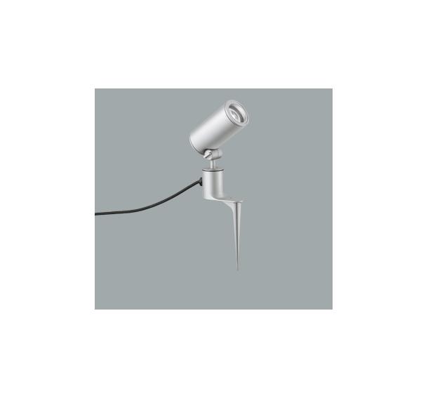 ◎ODELIC LEDエクステリアスポットライト スパイク式 プラグ付キャプタイヤケーブル LED一体型 CDM-T35W相当 昼白色 ワイド配光 本体マットシルバー 防雨型 OG254859