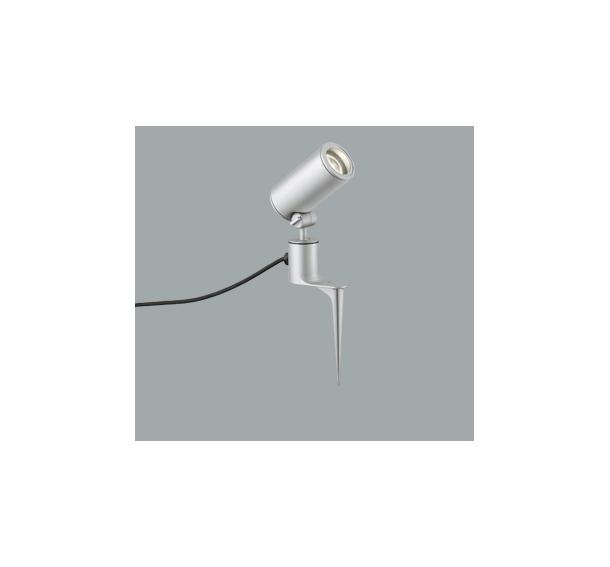 ◎ODELIC LEDエクステリアスポットライト スパイク式 プラグ付キャプタイヤケーブル LED一体型 CDM-T35W相当 電球色 ワイド配光 本体マットシルバー 防雨型 OG254860