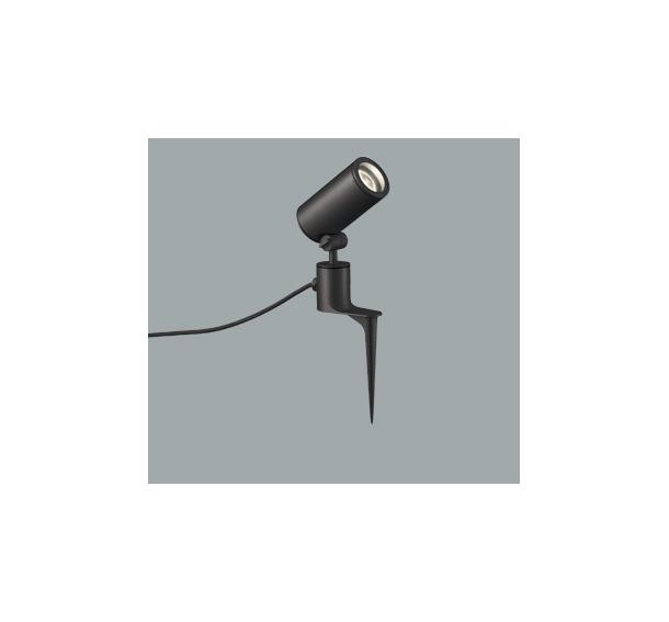 ◎ODELIC LEDエクステリアスポットライト スパイク式 プラグ付キャプタイヤケーブル LED一体型 CDM-T35W相当 電球色 ミディアム配光 本体ブラック 防雨型 OG254862
