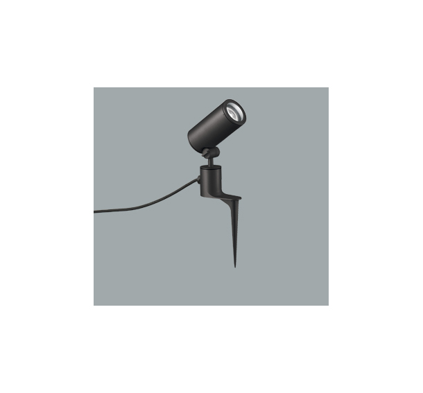 ◎ODELIC LEDエクステリアスポットライト スパイク式 プラグ付キャプタイヤケーブル LED一体型 CDM-T35W相当 昼白色 ワイド配光 本体ブラック 防雨型 OG254863