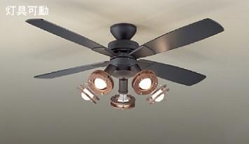 ◎DAIKO LEDシーリングファンライト 簡易取付式 (ランプ・リモコンスイッチ付) 7.8W電球色×5灯 本体黒(ブラック) 正転逆転切替 風量3段切替機能付 ASL-513