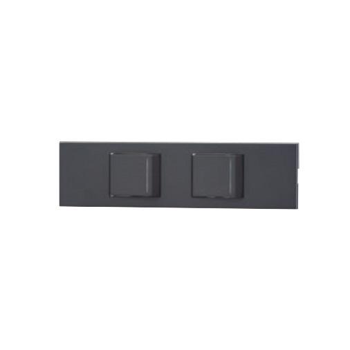 ◎神保電器 NKシリーズ 家具・機器用3路ガイドランプ付きスイッチセット(什器用) 2口 ソフトブラック(SB) KAG-2538 ※受注生産品