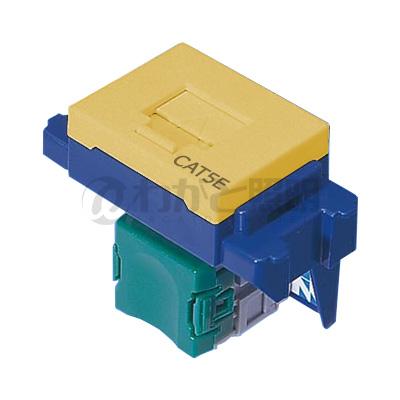 卸直営 11000円以上で送料無料 ディスカウント パナソニック LAN用配線器具 ぐっとすシリーズ 情報モジュラジャック 埋込型 イエロー NR3160Y CAT5e