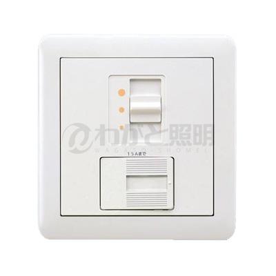 ◎パナソニック コスモシリーズワイド21 ライトコントロール 信号線式(LED・インバータ蛍光灯用) Hf/LR用 AC100-242V 15A スライド式 ラウンドプレート NQ21592U