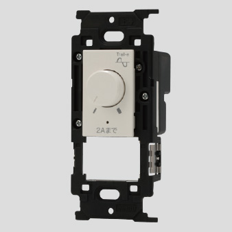 いつでも送料無料 送料無料 神保電器 高級な ニューマイルドビーシリーズ ライトコントロールスイッチ LED照明対応形 逆位相制御方式 消灯機能なし ピュアホワイト 200VA ※受注生産品 JEC-BN-RTE2N AC100V PW PW