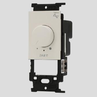 ◎神保電器 J・WIDE SLIMシリーズ ライトコントロールスイッチ LED照明対応形 逆位相制御方式 消灯機能なし AC100V 200VA ピュアホワイト(PW) NW-RTE2N ※受注生産品