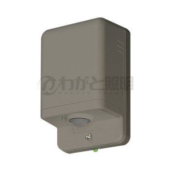 ◎パナソニック 屋側用配線器具 熱線センサ付自動スイッチ 親器(防雨形) 屋外用 屋側壁取付 IPX3 明るさセンサ付 8A 100V AC ブラウン WTK3481A