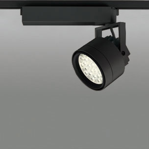 ◎ODELIC LEDスポットライト 配線ダクトレール用 CDM-T70W相当 ブラック 45° 電球色 3000K  調光非対応 XS256338 ※受注生産品