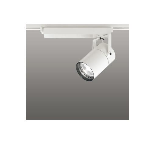 ◎ODELIC LEDスポットライト 高彩色タイプ 配線ダクトレール用 CDM-T70W相当 オフホワイト スプレッド 温白色 3500K  調光非対応 XS511127H