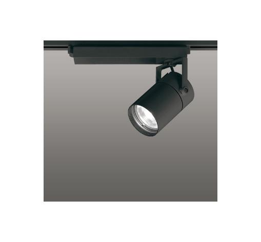 ◎ODELIC LEDスポットライト 高彩色タイプ 配線ダクトレール用 CDM-T70W相当 ブラック スプレッド 温白色 3500K  調光非対応 XS511128H