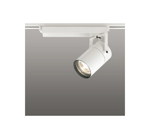 ◎ODELIC LEDスポットライト 高彩色タイプ 配線ダクトレール用 CDM-T70W相当 オフホワイト スプレッド 電球色 3000K  調光非対応 XS511129H