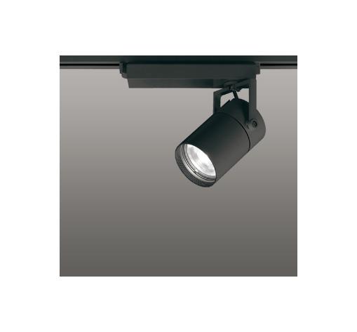 ◎ODELIC LEDスポットライト 高彩色タイプ 配線ダクトレール用 CDM-T35W相当 ブラック スプレッド 温白色 3500K  専用調光器対応 XS512136HC