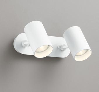 ◎ODELIC LEDスポットライト 直付け用(フレンジタイプ) LED電球ミニクリプトンレフ形 電球色 E17口金(ランプ付) 白熱灯60W相当×2灯 ワイド配光 非調光 100V OS256501LD