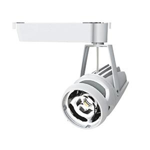◎OKAMURA 配線ダクトレール用 LEDスポットライト エコ之助スーパー鮮度クン LED24W 精肉向け ミディアム配光(Mレンズ) 光漏れタイプ 高演色・高彩度 本体色:白 OECD-3/RHN20(Mレンズ)+精肉用フィルター