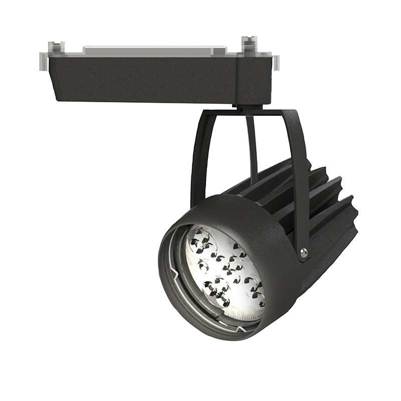 ◎OKAMURA 配線ダクトレール用 LEDスポットライト エコ之助スーパーマルチャン LED52W 光色調整型 スーパーワイド配光(SWレンズ) 高演色 本体色:黒 OEMD-4S/HN50(SWレンズ)