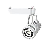 ◎OKAMURA 配線ダクトレール用 LEDスポットライト エコ之助 鮮度クン 40W(セラメタ 70W相当) 光漏れタイプ 2700K(電球色)相当 Mレンズ 本体色:白 OECD-3/HL40(Mレンズ)