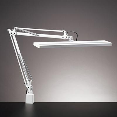 ◎yamada LEDデスクスタンド Z-LIGHT(ゼットライト) 白熱100W相当 無段階調光(明るさ・色温度連動)(2700K電球色~4200K白色) 人感センサー付き クランプタイプ Z-81NW