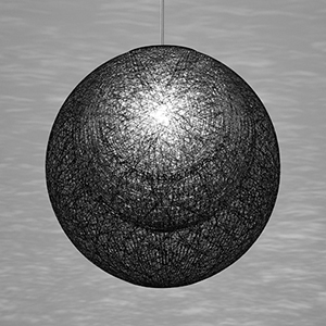 ◎yamagiwa MAYUHANA MA BLACK ペンダントライト E26口金 クリアボールランプ φ95 100W×1灯用 (ランプ付) 引掛シーリング 321P2909B