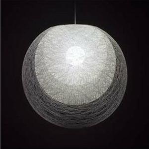 ◎yamagiwa MAYUHANA ペンダントライト E26口金 ホワイトボールランプ φ95 100W×1灯用 (ランプ付) 引掛シーリング 321P2909W