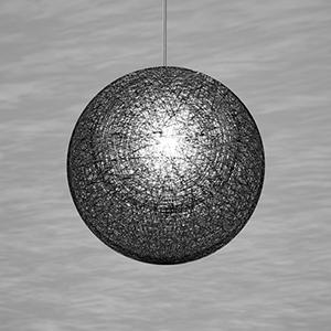 ◎yamagiwa MAYUHANA MA BLACK ペンダントライト E26口金 クリアボールランプ φ95 60W×1灯用 (ランプ付) 引掛シーリング 321P2911B