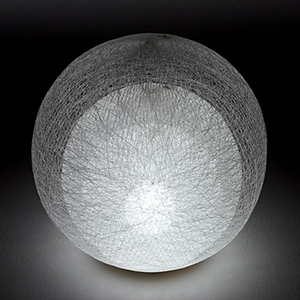 ◎yamagiwa MAYUHANA テーブルスタンド E26口金 ホワイトボールランプ φ95 60W×1灯用 (ランプ付) 中間スイッチ付 321S7400W