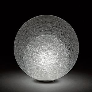 ◎yamagiwa MAYUHANA テーブルスタンド E26口金 ホワイトボールランプ φ95 60W×1灯用 (ランプ付) 中間スイッチ付 321S7403W