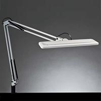 ◎yamada LEDデスクスタンド Zライト LED一体型 白熱灯80W相当 クランプ式 無段階調光 昼白色 本体色ホワイト Z-1000W