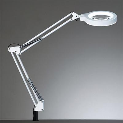 ◎yamada LEDデスクスタンド Zライト 白熱灯60W相当 LED一体型 4000K 調光機能付 クランプ式 本体色:ホワイト Z-37NLW