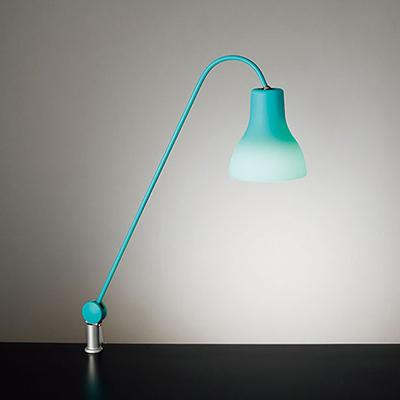 ◎yamada LEDデスクスタンド Z-LIGHT(Zライト) 白熱灯40W相当 E17口金 LED電球 電球色 (ランプ付) 本体色:ブルー クランプタイプ Z-J9000BL