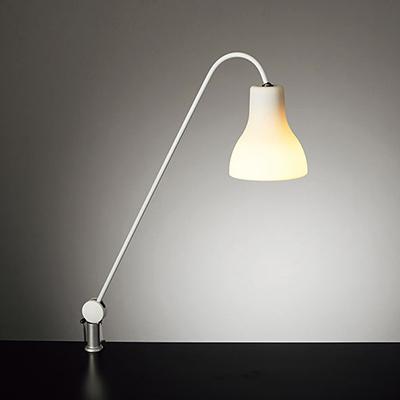 ◎yamada LEDデスクスタンド Z-LIGHT(Zライト) 白熱灯40W相当 E17口金 LED電球 電球色 (ランプ付) 本体色:ホワイト クランプタイプ Z-J9000W