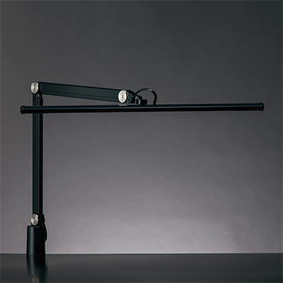 ◎yamada LEDデスクスタンド Zライト LED一体型 白熱灯150W相当 クランプ式 無段階調光 昼白色 本体色ブラック Z-S5000B