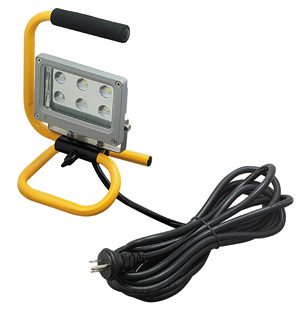 ◎ジェフコム 投光器型作業灯 LED投光器 スタンド型 6Wタイプ 完全防雨・防湿・防塵 屋外用(IP65) 390lm 白熱電球40W相当 昼光色 PDS-0106S