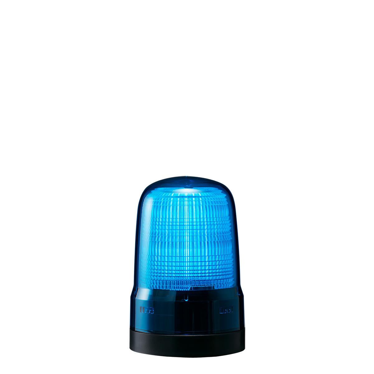 <title>送料無料 点灯 点滅 フラッシュのシンプル報知 青色灯 パトライト LED表示灯 SL 正規店 DC12~24V 2.9W φ80mm ブルー 青色 プッシュイン端子台 2点穴取付 SL08-M1KTN-B</title>