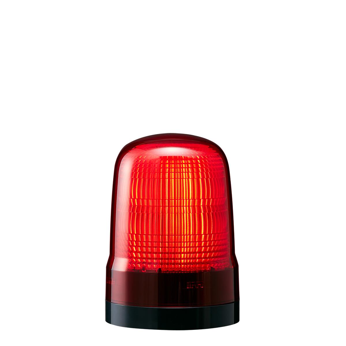 <title>送料無料 点灯 付与 点滅 フラッシュのシンプル報知 赤色灯 パトライト LED表示灯 SL DC12~24V 2.9W φ100mm レッド 赤色 プッシュイン端子台 2点穴取付 SL10-M1KTN-R</title>