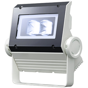 ◎岩崎 LEDioc FLOOD NEO(レディオック フラッド ネオ) LED投光器 30クラス 広角タイプ 電球色(2700K)タイプ 本体色:ホワイト LED一体形 ECF0396L/SAN8/W