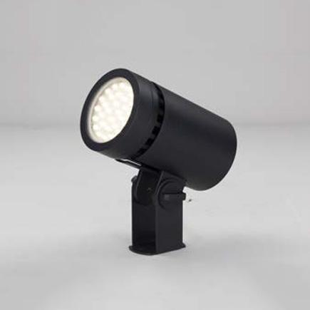 ◎東芝 屋外用LED小形丸形投光器 電球色 中角タイプ 70Wコンパクトメタルハライドランプ器具相当 電源ユニット一体形 グレーイッシュブラック LEDS-04801LM-LS9