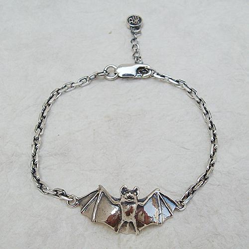 こうもりブレスレット コウモリ 蝙蝠 動物モチーフ 腕輪 シルバーアクセサリー SILVER925 女性 男性 プレゼント ギフト対応