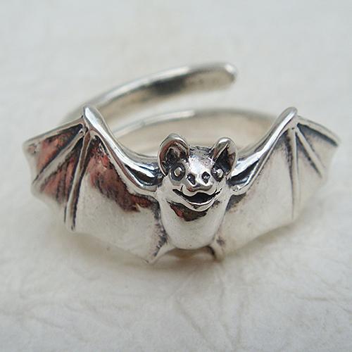 コウモリリング こうもり 蝙蝠 動物チーフ 指輪 指環 シルバーアクセサリー SILVER925 女性 男性 プレゼント ギフト対応