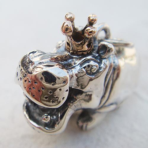 かばの王様ペンダント(カバネックレス) 送料無料 動物モチーフ 18金 K18ピンクゴールド 首飾り シルバーアクセサリー SILVER925 女性 男性 プレゼント ギフト対応