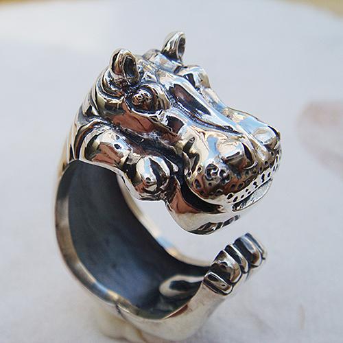 かばリング(カバリング) 動物モチーフ 指輪 指環 シルバーアクセサリー  SILVER925 女性 男性 プレゼント ギフト対応