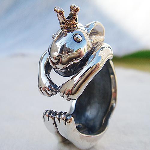 うさぎの王様リング(ウサギリング) 送料無料 兎 干支 十二支 卯年 動物モチーフ 指輪 指環 18金 K18ピンクゴールド シルバーアクセサリー SILVER925 女性 男性 プレゼント ギフト対応