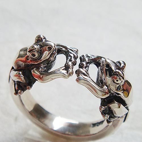 蛙リング其の弐(カエルリング) かえる 蛙 つる草 植物 シルバーアクセサリー 指輪 指環 動物モチーフ SILVER925 女性 男性 プレゼント ギフト対応