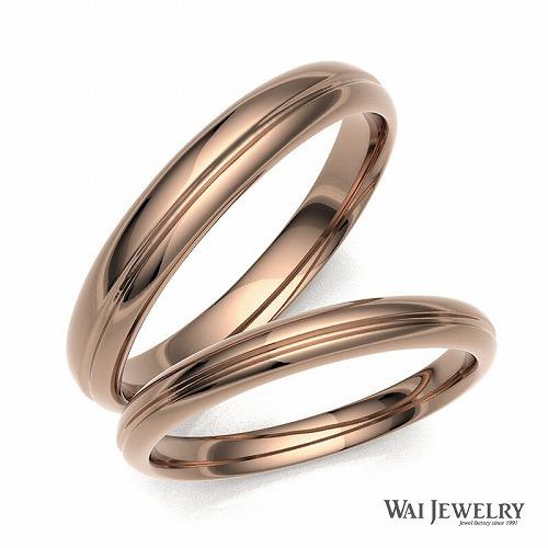【刻印/送料/ギフト無料】【品質保証書付き】結婚指輪 ピンクゴールド k18pg マリッジ ペアリング 2本セット 天然ダイヤモンド ブライダル ペア結婚指輪 自社製造で安心の品質予算10円でお届け