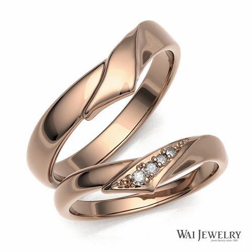 【送料無料】結婚指輪 マリッジリング ペアリング ペア ゴールド ピンクゴールド k18pg 18金 ペアリング 2本セット 天然ダイヤモンド ブライダル 刻印無料 18k ペア メンズ レディース 人気 ギフト アクセサリー 贈り物 記念日 母 妻 彼女