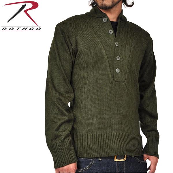 【21%OFFセール開催中】ROTHCO ロスコ G.I. 5ボタンヘンリーネックセーター オリーブ 伸縮性があり体のラインが綺麗に出るシルエットです。/ ミリタリー 春 【キャッシュレス5%還元対象品】