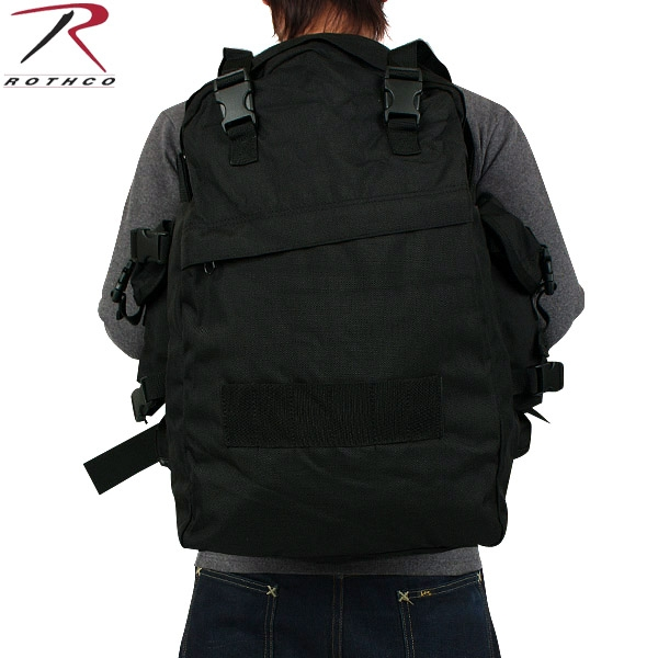 メンズ ミリタリー バッグ / ROTHCO ロスコ G.I. PLUS SPECIAL FORCES アサルトバックパック ブラック 【ミリタリーバック】/ ミリタリー  【キャッシュレス5%還元対象品】